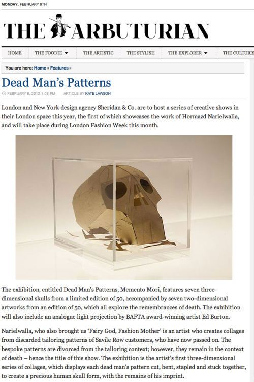 Dead Man_s Patterns - Memento Mori by Hormazd Narielwalla | The Arbuturian